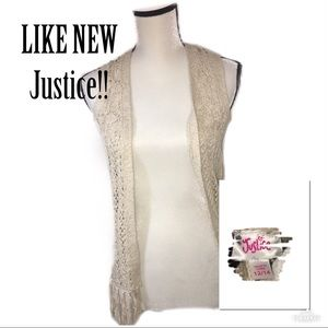 ‼️🔥LIKE NEW JUSTICE Knit Vest!🔥‼️